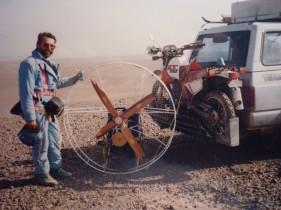 Prototy Flying Surveyor ausgestellt im Geomuseum